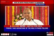 Sharad Pawar asks party workers to vote twice in Lok Sabha polls