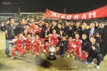 Mizoram thrash Railways 3-0 to win Santosh Trophy