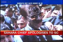 Subrata Roy reaches SC, protestor throws ink at him, calls him a thief