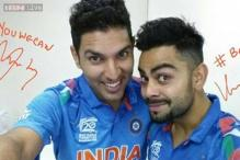 Snapshot: Yuvraj Singh and Virat Kohli pose for a selfie in Bangladesh