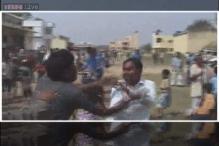 AAP, JDU workers clash at Nitish Kumar's rally in Nalanda