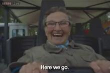 'Is my hair still ok?' 70-year-old grandmother rides a roller coaster for the first time and her reaction is priceless!