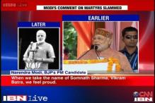 Would rather quit politics than insult our martyrs: Narendra Modi