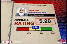 MPs Rating: BSP MP Qadir Rana scores 5.2 on a scale of 10