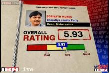MPs Rating: Gopinath Munde scores 5.2 on a scale of 10