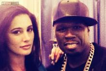 Snapshot: Nargis Fakhri gets clicked with 50 Cent during 'Spy' shoot