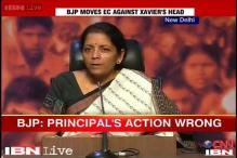 BJP slams St. Xavier's College's Principal, says his action wrong