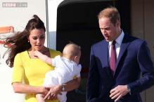 Photos: Prince George wears a romper that looks like a girl's dress, sparks nostalgic recollection about dad William