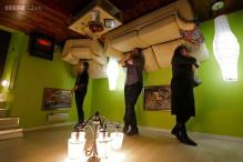 Photos: A tour of the inside of St Petersburg's quirky 'upside down home'