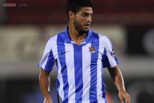 Vela's injury-time goal snatches win for Sociedad against Espanyol
