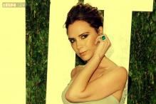 Victoria Beckham poses for Hello! magazine cover
