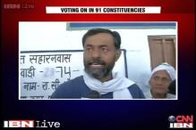 LS elections: Yogendra Yadav casts his vote in Rewari