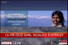 13-year-old Telangana girl scales Everest, sets new record