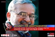 Ananthamurthy given security after 'threat calls' by NaMo Brigade