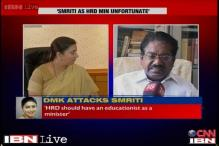Smriti education row: An educationist should be HRD minister, says DMK