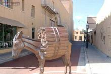 New Mexico city Santa Fe is working to replace the stolen tail of its famous donkey statue