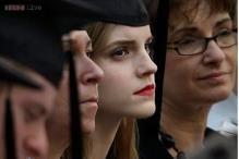 Snapshot: Emma Watson graduates from Brown University; tweets selfie wearing black cap, gown