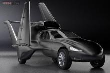 A jet-propelled car that could fly at 880 km per hour