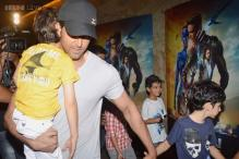 Hrithik Roshan takes his sleepy children home after watching 'X-Men: Days Of Future Past'