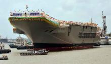INS Vikrant moved out of Mumbai Naval dockyard