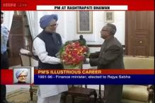 PM Manmohan Singh submits his resignation to the President