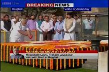 Watch: PM Narendra Modi pays homage to Mahatma Gandhi at Rajghat