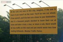 'Waste less time reading billboards': This brilliant Mumbai Traffic Police hoarding promotes use of public transport