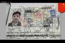 Watch how a Chinese man was left stranded in South Korea after his son doodled on his passport!