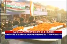 Watch: Rahul Gandhi, Priyanka Gandhi hold a roadshow in Amethi