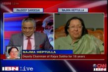 Modi is reaching out to backwards as well as Muslims: Najma Heptullah