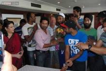In pics: Sachin Tendulkar wishes Indian hockey team success at World Cup