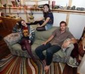 Lucky roommates by a lumpy sofa and find $40,000 cash!