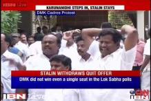 DMK's Stalin withdraws resignation after Karunanidhi intervenes