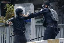 Riot police clash with May Day protesters in Istanbul