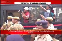 Delhi University admissions remain stalled, AISA protesters detained over four-year course row