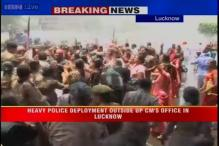 Badaun rape: Water cannons used on BJP protesters outside CM's office