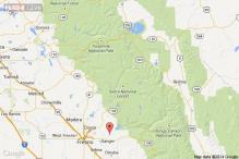 Military jet crash sets home ablaze in California