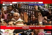 Mumbai: BMC officials return from Campa Cola Society as residents block their entry