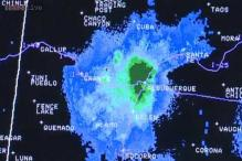 Weather officials catch a swarm of grasshoppers over Albuquerque on radar!