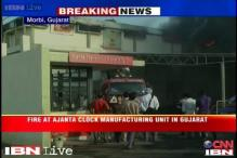 Gujarat: Massive fire engulfs Ajanta clock manufacturing unit