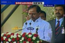 K Chandrasekhar Rao sworn in as the first Chief Minister of Telangana