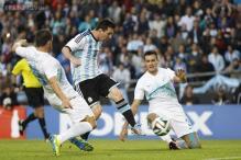 Messi, Alvarez score as Argentina beat Slovenia in warmup