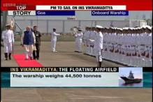 Watch: Modi gets a ceremonial Guard of Honour at the Naval air base in Goa