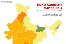 Road accident map of India
