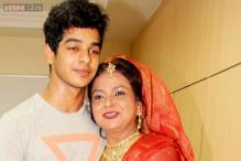 Snapshot: Shahid Kapoor's half-brother Ishaan Khattar poses with mother Neelima Azeem in this adorable photo