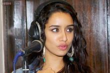 Snapshot: Confused, lost or nervous? Shraddha Kapoor pulls funny facial expressions as she lends voice to 'Ek Villain' background score
