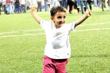Aamir Khan's son Azad playing football with Abhishek Bachchan is the cutest thing you'll see today