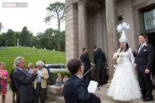 This Nebraska couple chose an unusual venue for their wedding: the largest cemetery in Omaha