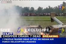 IAF chopper crashes in Sitapur in Uttar Pradesh, all 7 on board killed