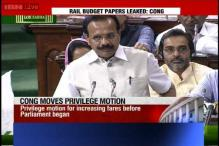 Congress moves privilege motion against government for rail fare hike before Budget Session
